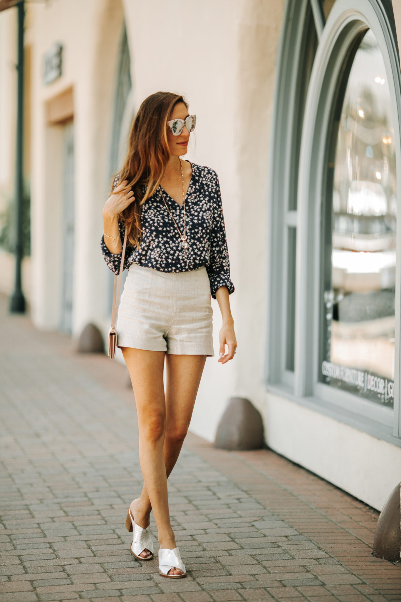 star printed shirts and shorts