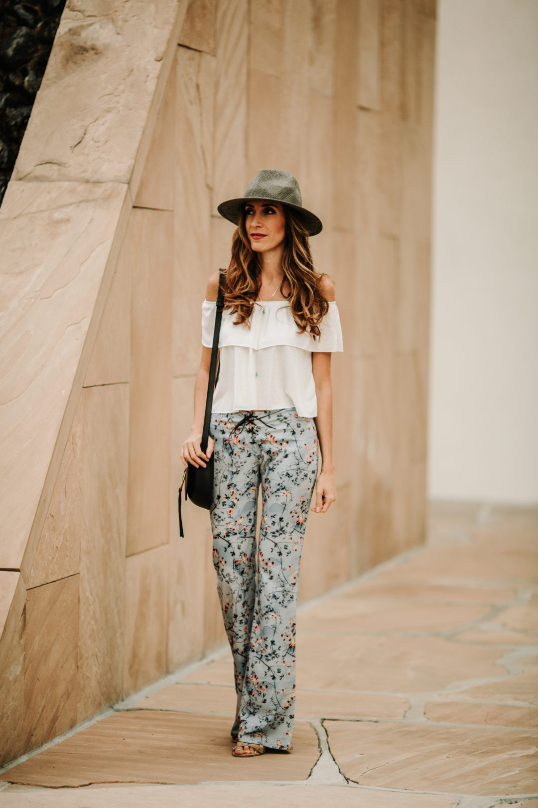 floral flares and off the shoulder